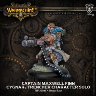 captain maxwell finn cygnar trencher character solo