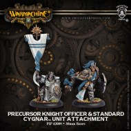 precursor knight officer and standard cygnar unit attachment