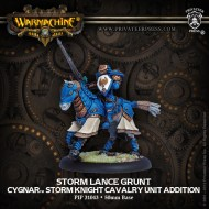 storm lance grunt cygnar storm knight cavalry unit addition