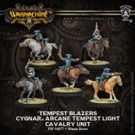 tempest blazers cygnar tempest light cavalry unit