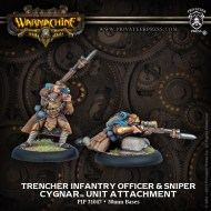 trencher infantry officer and sniper cygnar unit attachment